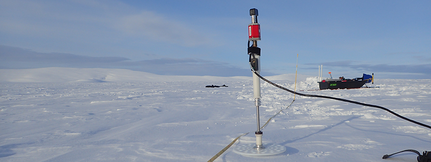 Snow depth measurements at Teller field site