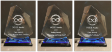 Image of three awards.